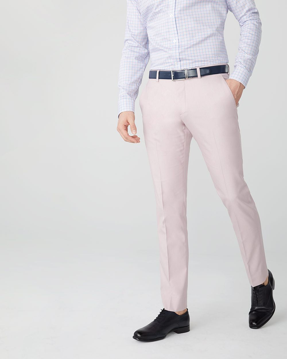 Slim fit light pink suit pant