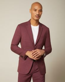 Slim fit Burgundy suit blazer
