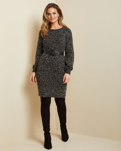 C&G Puffy sleeve Sweater dress