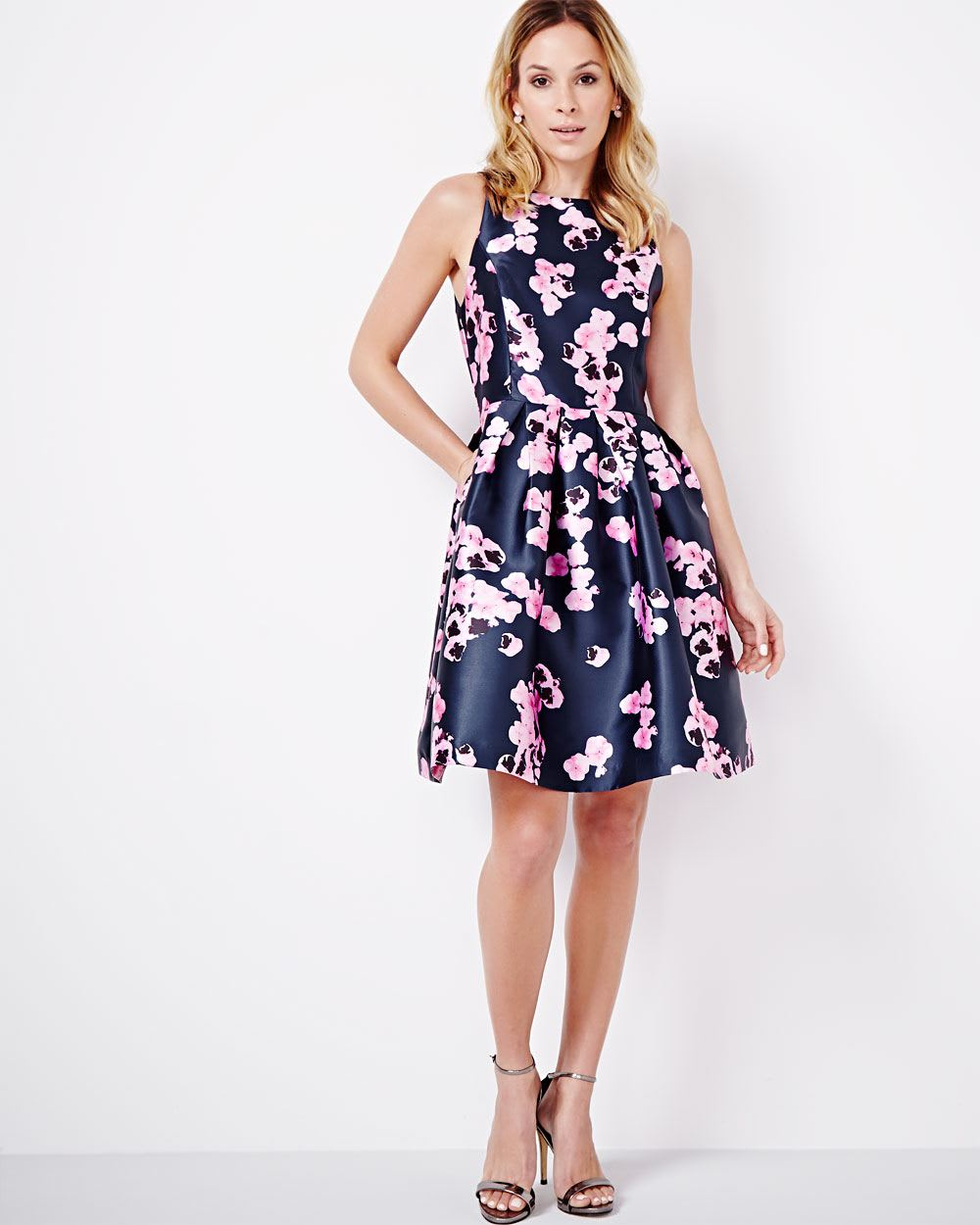 Christmas dress edmonton - Fit And Flare Floral Dress