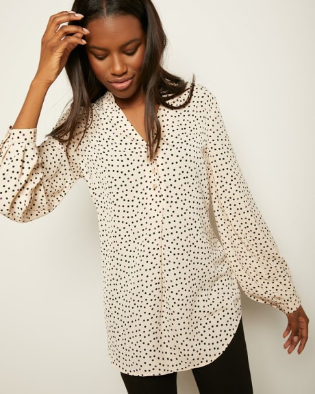 C&G Puffy Sleeve Tunic Blouse