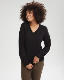 Fleece V-neck Tunic T-Shirt