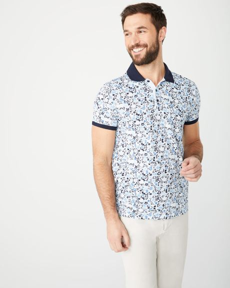 Short Sleeve floral polo