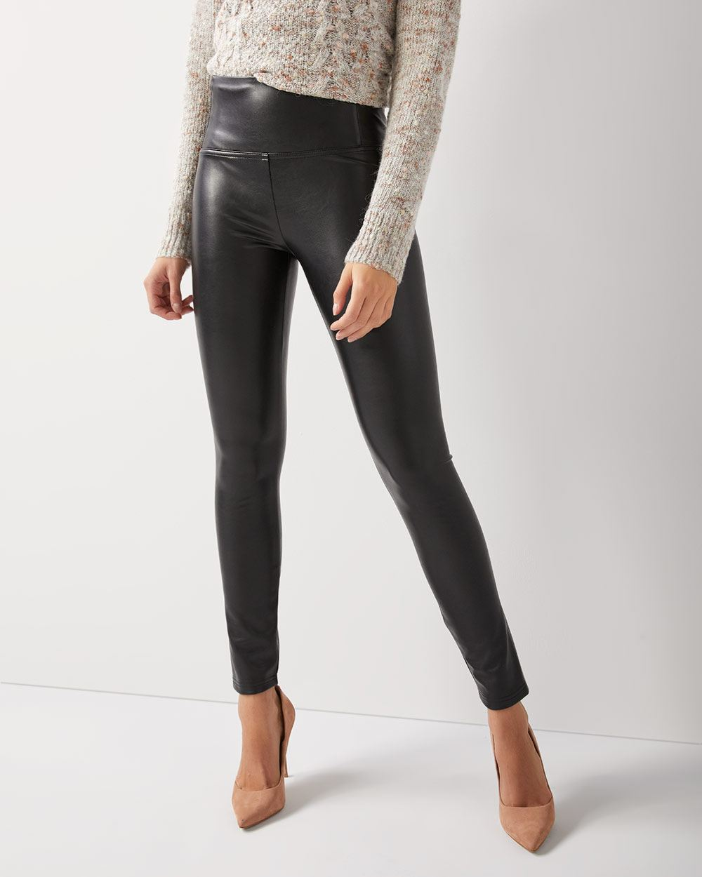 da574ae92726a7 High-waist Faux-leather legging | RW&CO.