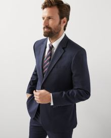 Tailored fit twisted yarn 40-hour blazer