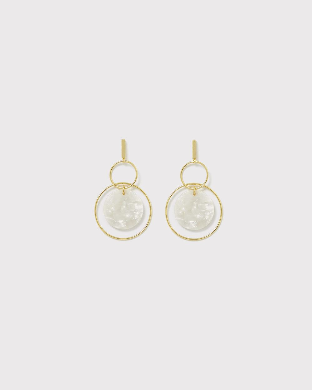 Pearly disc earrings