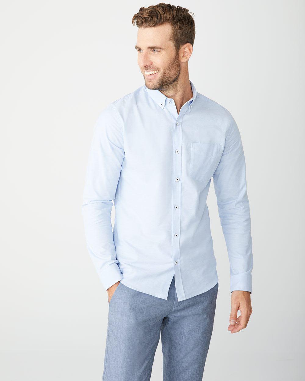 8fb3aeb07e Slim Fit stretch Oxford Shirt   RW&CO.