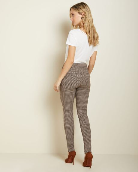 C&G Burgundy mini check City legging pant - 31.5''