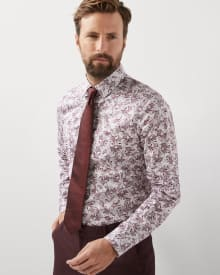 Slim Fit Paisley Dress Shirt