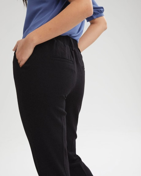 High-Waist Crepe Tapered Pant