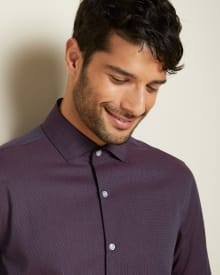 Athletic Fit micro dot Dress Shirt