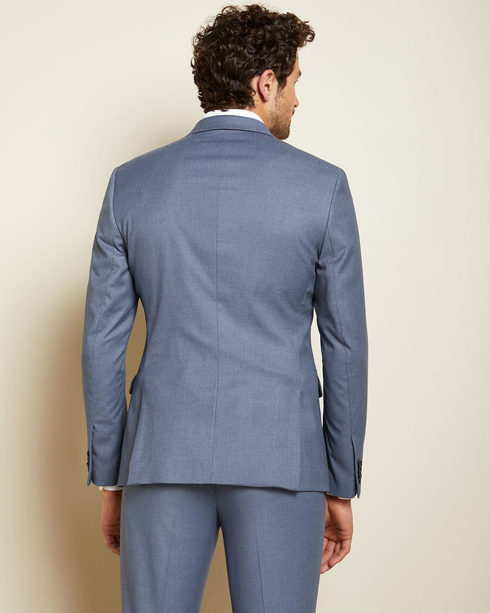 Slim Fit steel blue suit Blazer