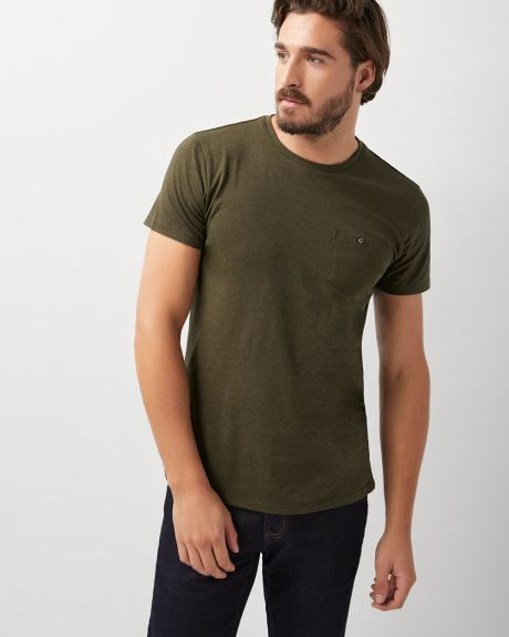 Crew-neck t-shirt with pocket