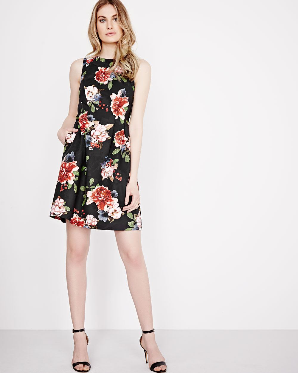 Floral fit and flare dress rwco ombrellifo Image collections