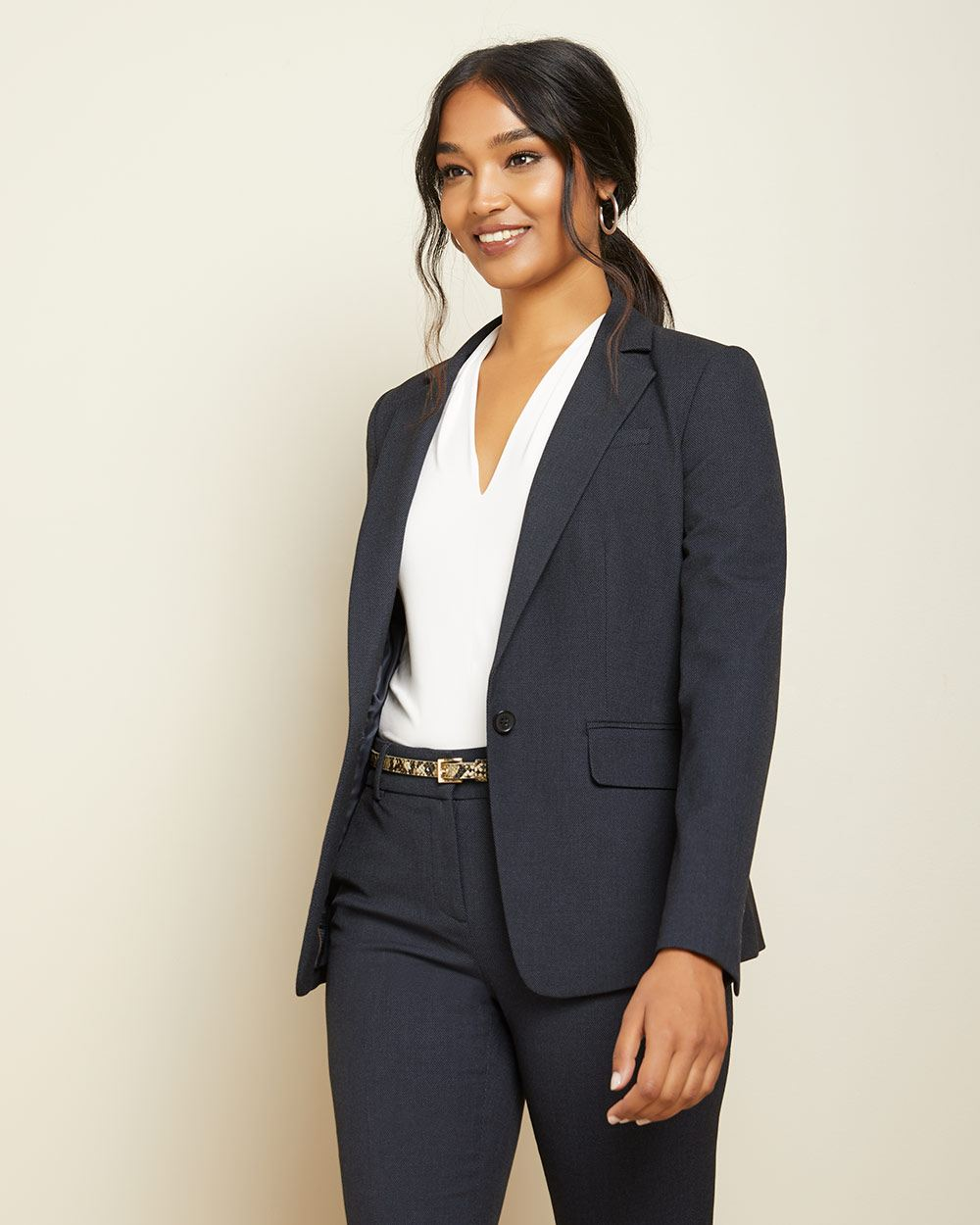 Two-tone Navy Fitted blazer