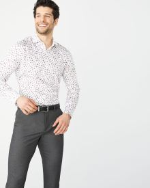 Athletic Fit soft floral dress shirt