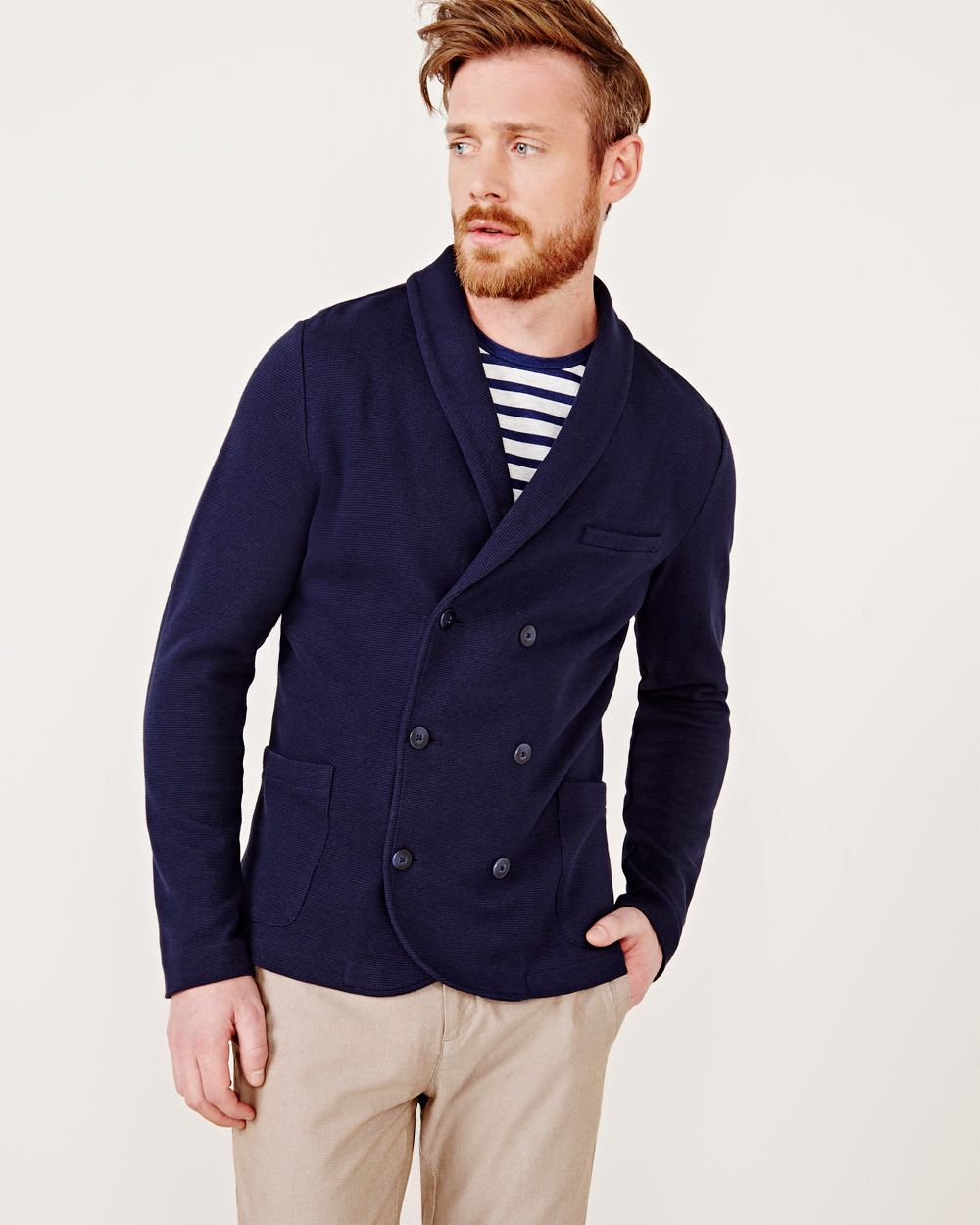 6d9b6374b8c Double-breasted cotton cardigan
