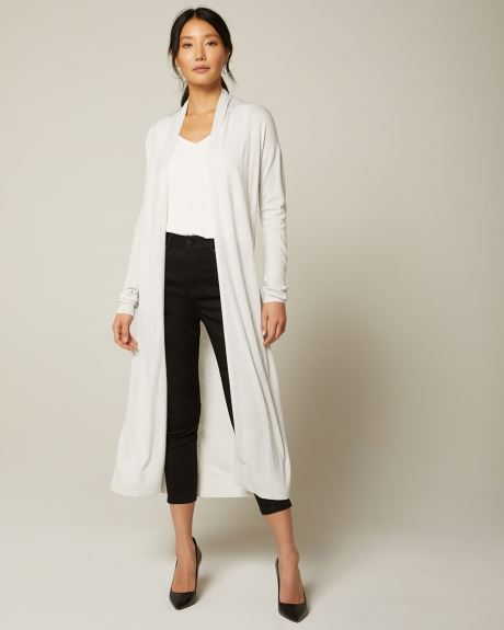 Cashmere-like duster cardigan