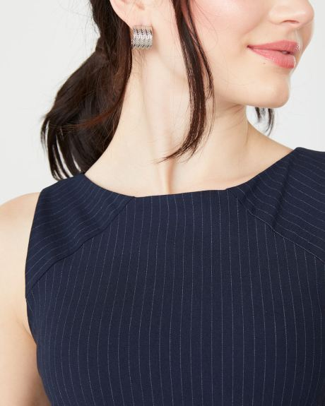 Fitted navy pinstripe City dress