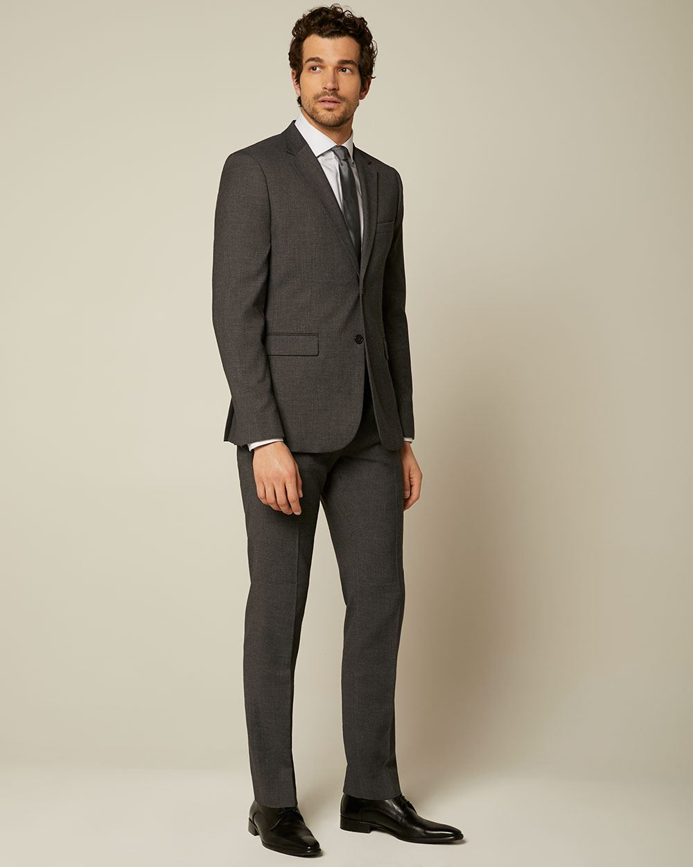 Essential Tailored Fit Dark Grey suit Blazer - Tall