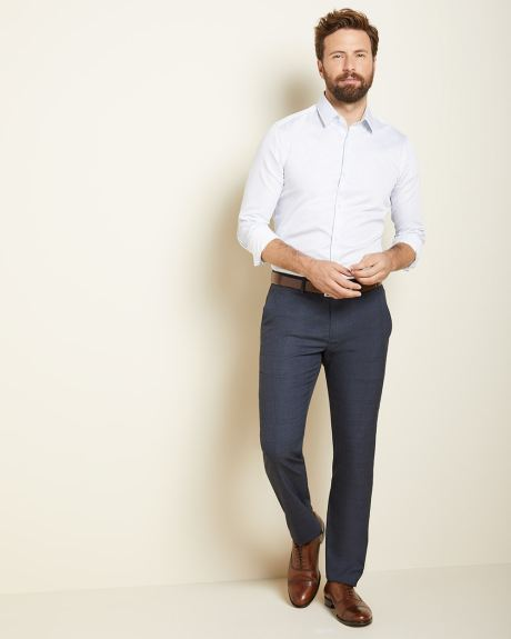 Slim fit Navy glen check City Pant