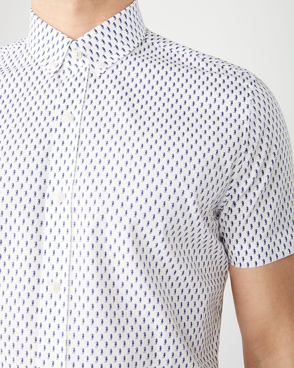 Slim Fit Short sleeve Seahorse shirt