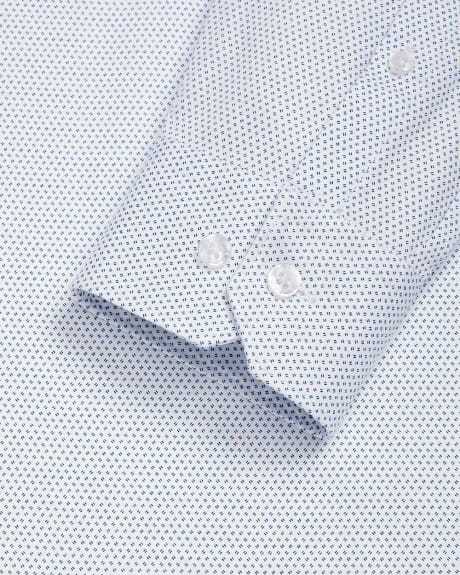 Athletic Fit micro line dress shirt