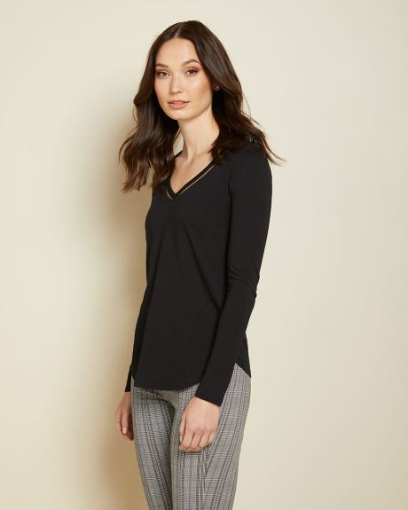 C&G Cotton and Modal Long sleeve t-shirt
