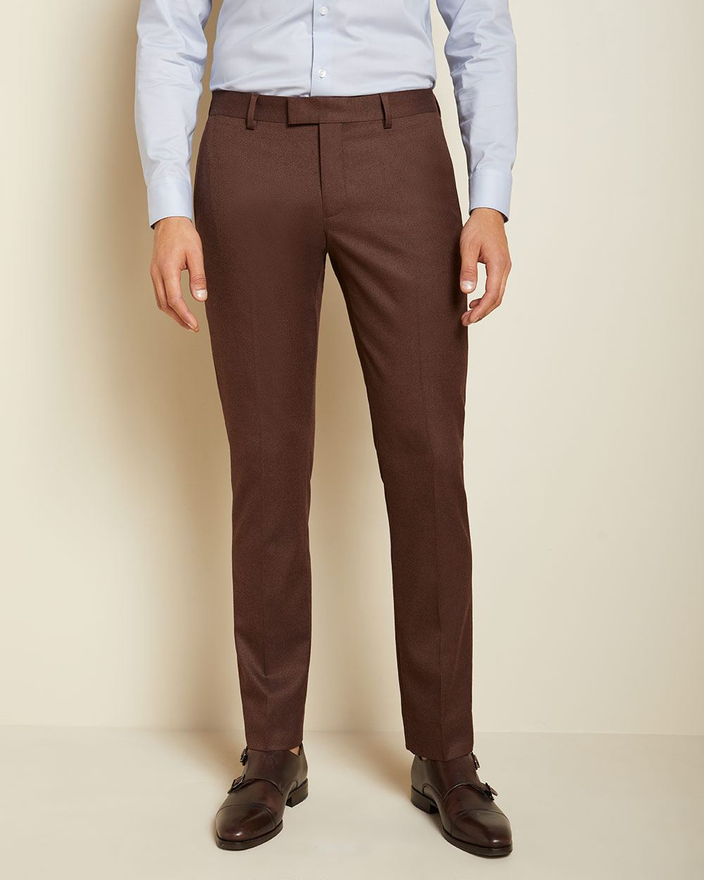 Slim fit twisted yarn 40-hour suit pant