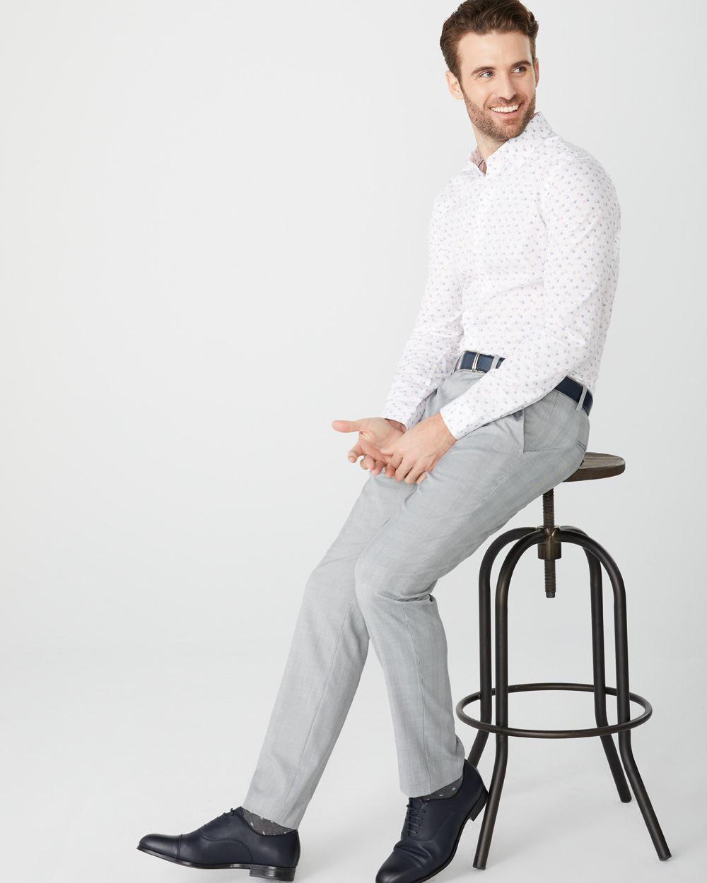 pantalon carreaux prince de galles coupe ajust e rw co. Black Bedroom Furniture Sets. Home Design Ideas
