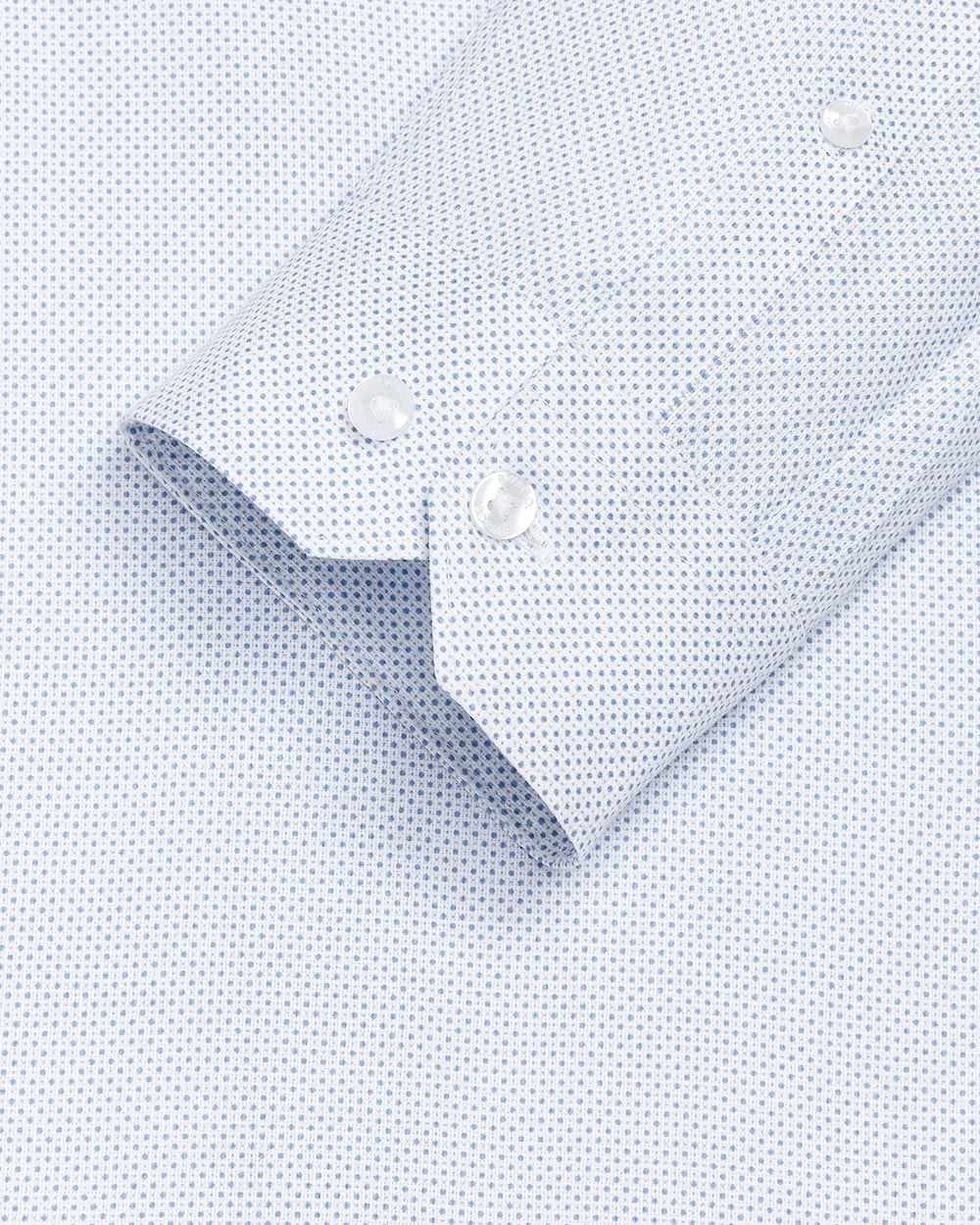 Tailored fit light dot dress shirt