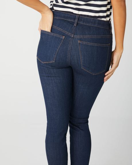 Mid-rise Sculpting skinny jeans in rinse wash
