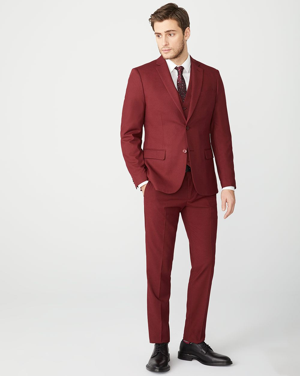 Slim Fit Marsala Red suit pant