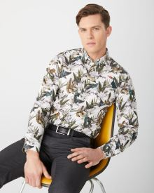 Slim fit Jungle print dress shirt