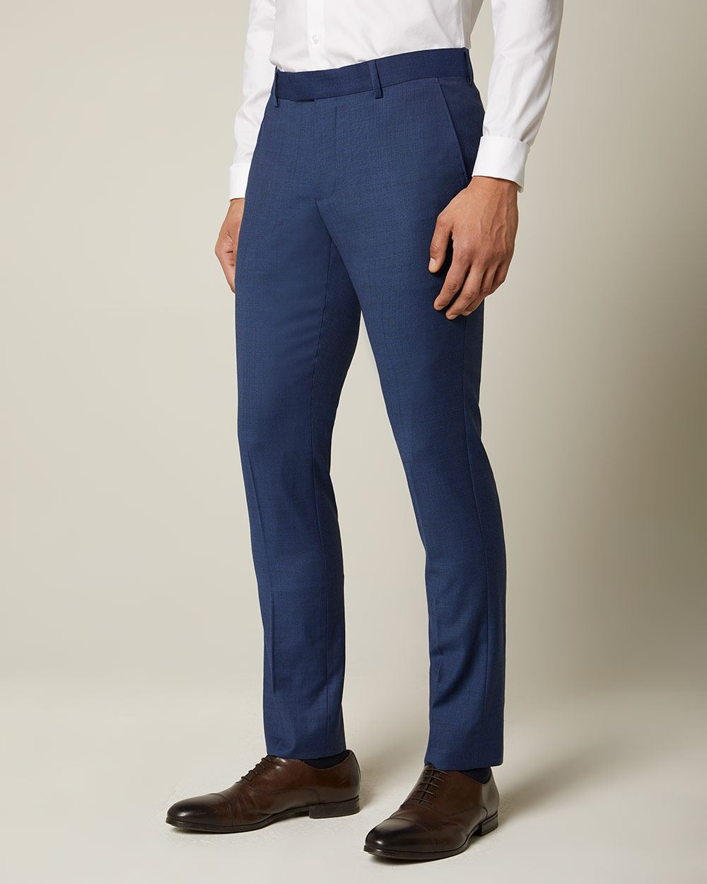 Essential Slim Fit blue wool-blend suit Pant