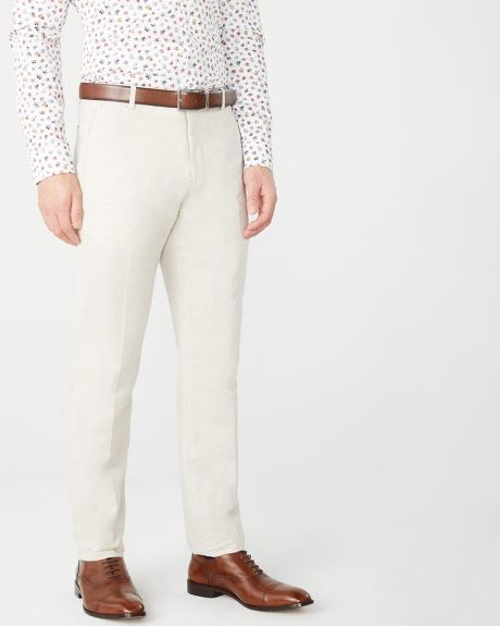 Tailored Fit Linen-Blend suit pant