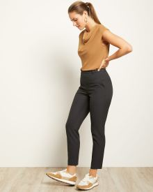 Two-Tone Signature Fit Slim Leg Ankle Pant