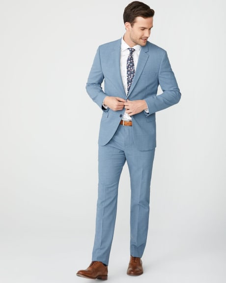 Slim Fit Blue wool-blend Traveler suit pant