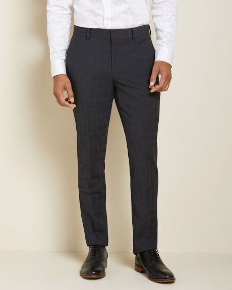 Slim Fit checkered wool-blend Traveler suit pant
