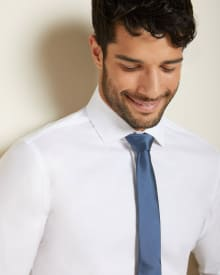 Athletic Fit white performance dress shirt