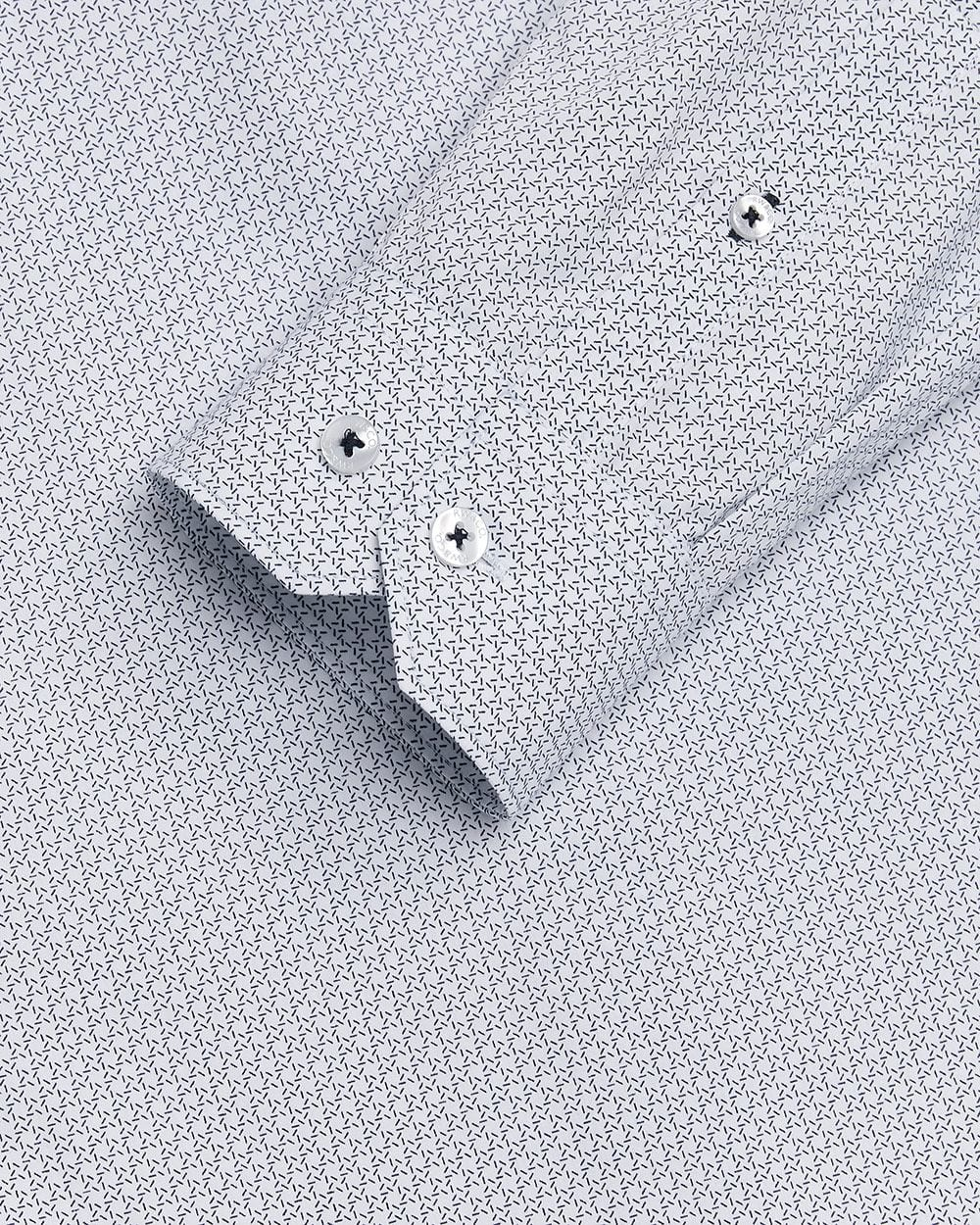 Slim Fit micro geo print Dress Shirt