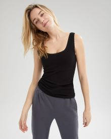 Lace-Trimmed Loungewear Cami with Inner Layer