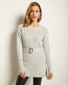 Belted Tunic Sweater