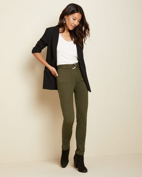 Belted high-waist utility Pant