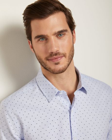 Essential Athletic fit geo print dress shirt