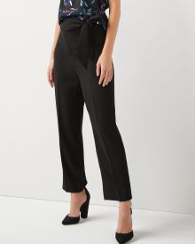 High-waist ankle pant with sash