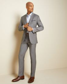Essential Tailored Fit stretch light grey Pant
