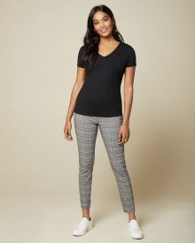 C&G plaid City legging Pant - 28''