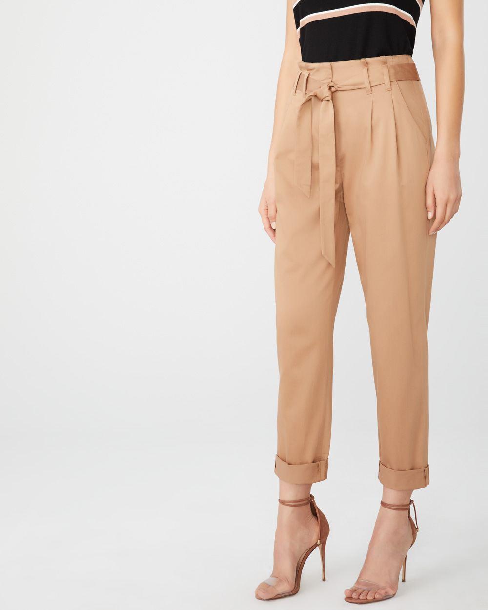 e4cc6c6355 Linen-blend paper bag pant | RW&CO.
