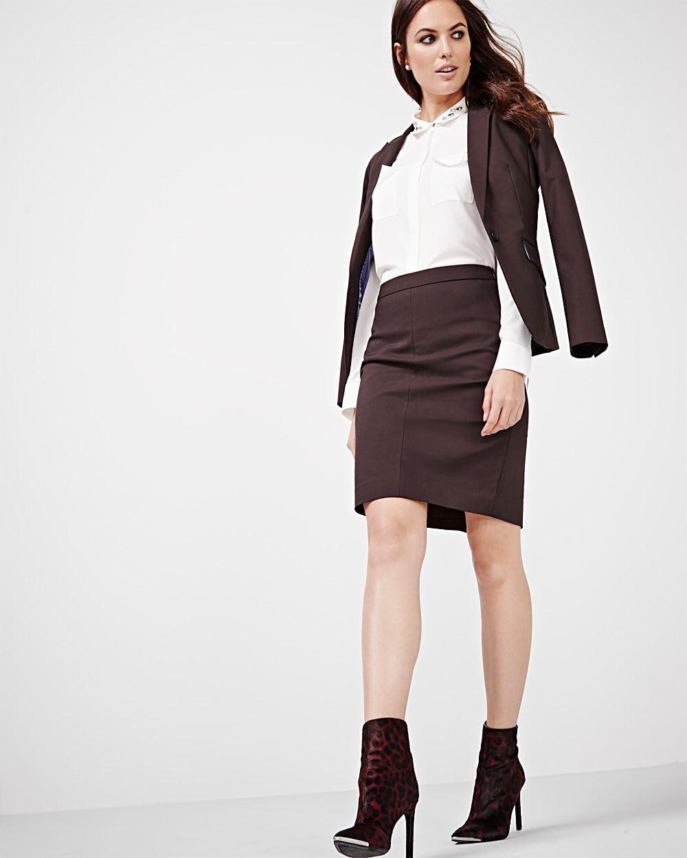 jupe droite en tissu moderne chic couleurs mode rw co. Black Bedroom Furniture Sets. Home Design Ideas